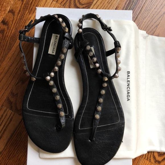 c18e8ca4519 Balenciaga Shoes - Balenciaga Arena Black Thong Sandals  size 41